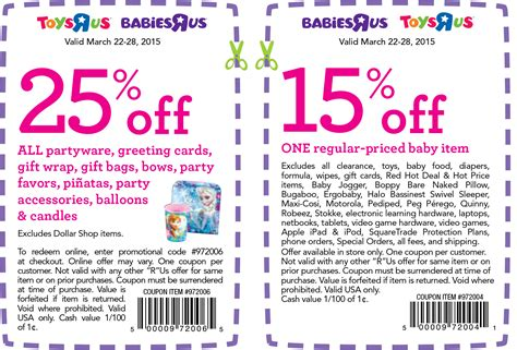 Toys R Us Printable Coupons In Store Savings