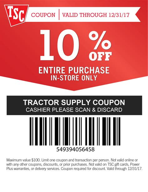 Tractor Supply Coupons CouponChief