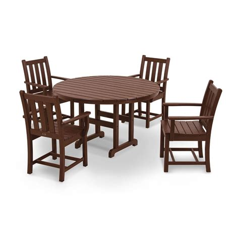 Traditional Garden Slate Grey 5 Piece Patio Dining Set