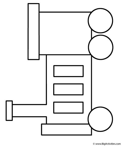 Train 1 Coloring Page Transportation BigActivities