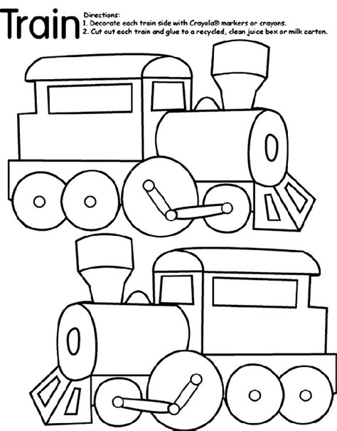 Train Coloring Page crayola