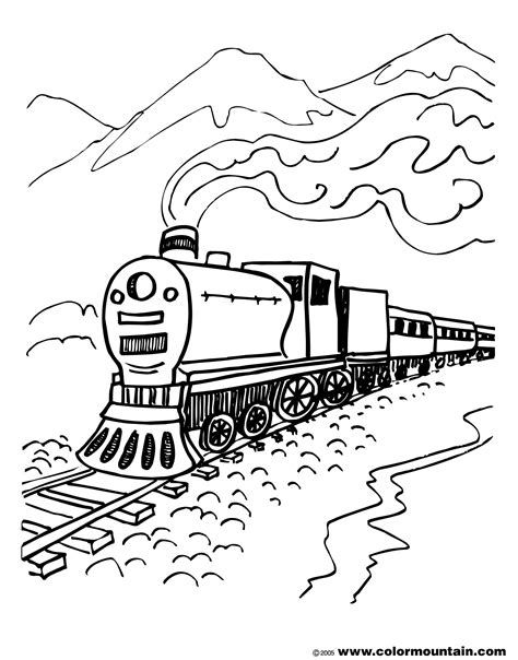 Train Coloring Pages GetColoringPages