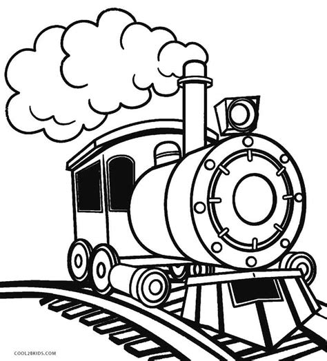Trains Coloring Pages Free and Printable