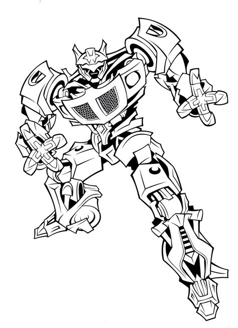 Transformer coloring page Free Printable Coloring Pages