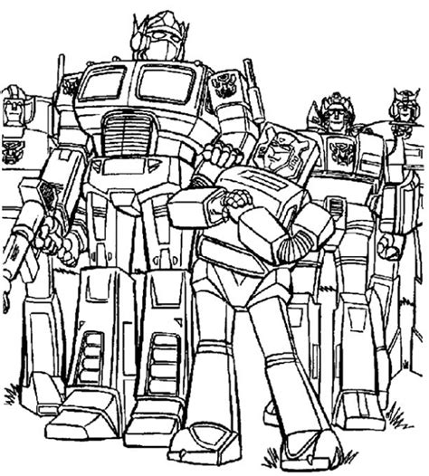 Transformers Coloring Pages HealthyChild