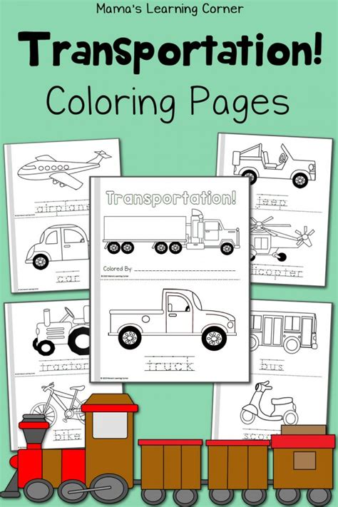 Transportation Coloring Pages Mamas Learning Corner