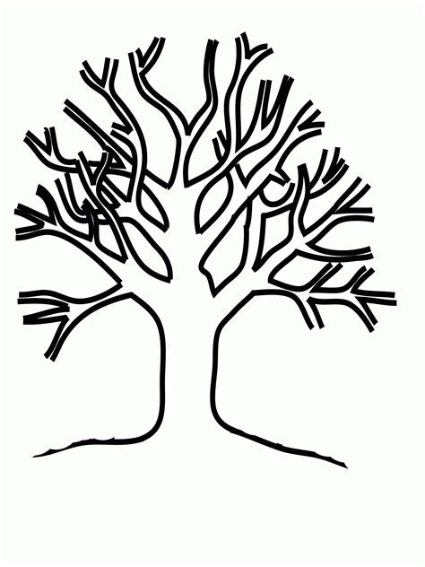 Tree Coloring Pages ColoringBookFun