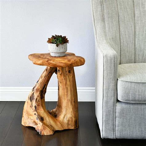 Tree Stump Side Tables and End Tables Houzz