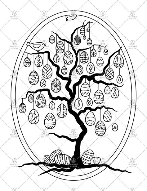 Tree coloring page Etsy