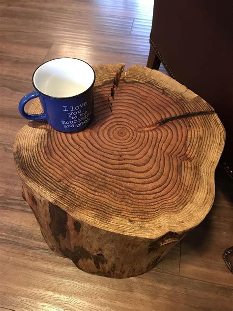 Tree stump coffee table Etsy