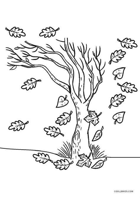 Trees Coloring Pages and Printable Activities 1