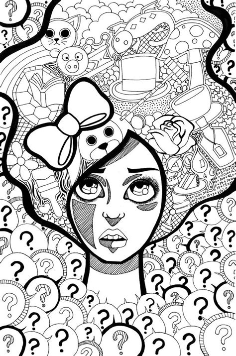 Trippy Coloring Pages gotyourhandsfull