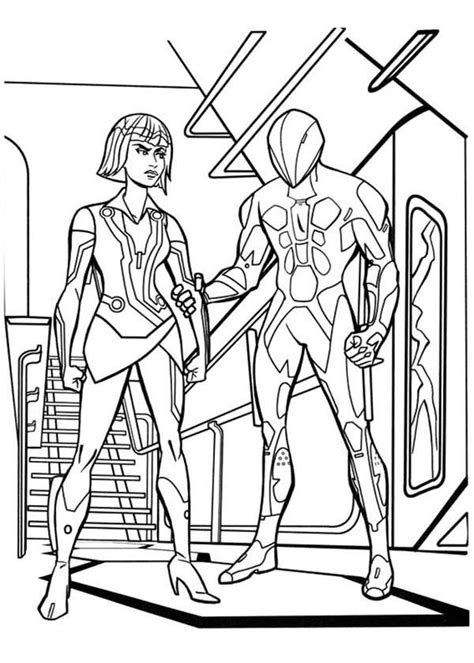 Tron coloring pages on Coloring Book info