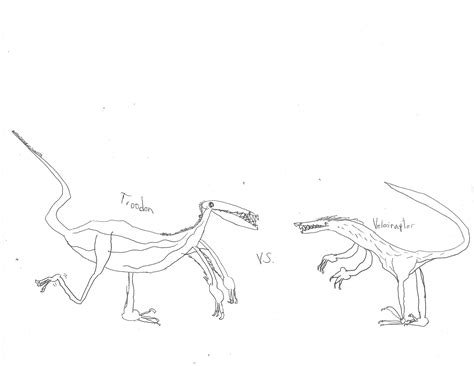 Troodon vs Velociraptor Coloring Page Eric s Activity Pages