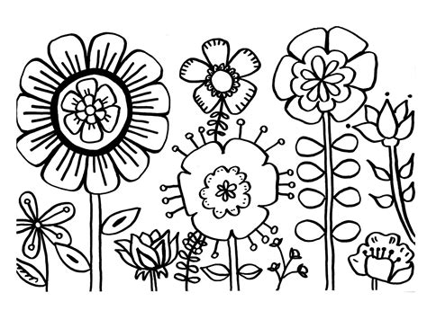 Tropical Flower Coloring Pages GetColoringPages