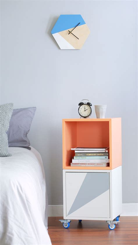 Turn the IKEA EKET into a Rolling Bar Cart or Bedside Table