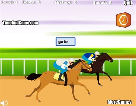 Typing Games Horse Racing Typing