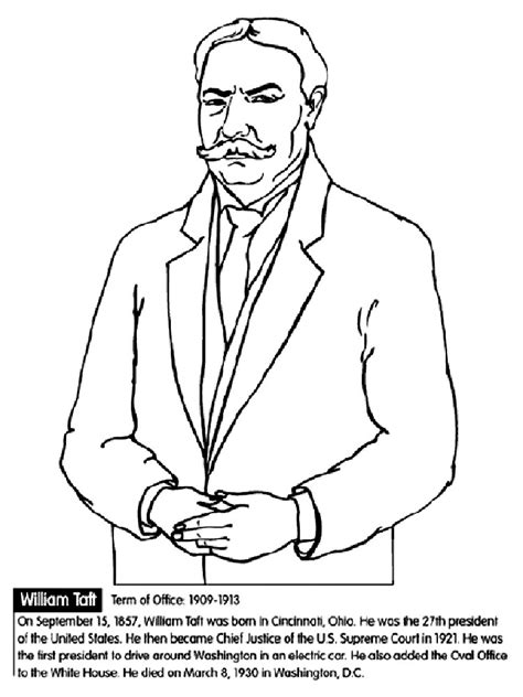 US Presidents Coloring Pages American President Coloring