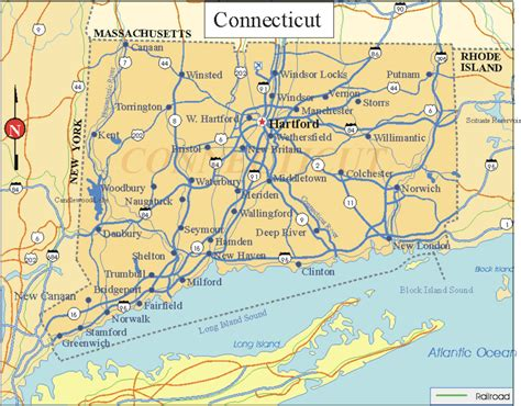 US States Facts Map and State symbols