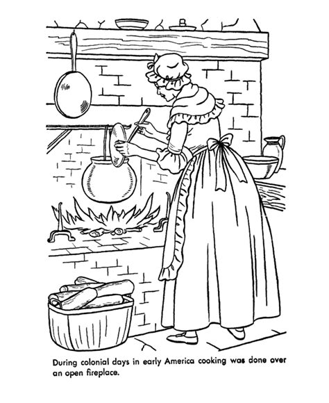 USA Printables Early American Life Coloring Pages Early