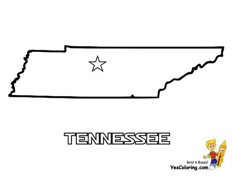 USA Printables State of Tennessee Coloring Pages