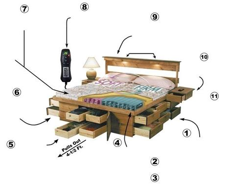 Ultimate Bed platform captains bed with storage drawers