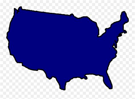 United States Color Outline Map