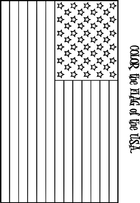 United States Flag Coloring Page crayola