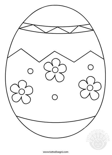 Uovo di Pasqua da colorare TuttoDisegni