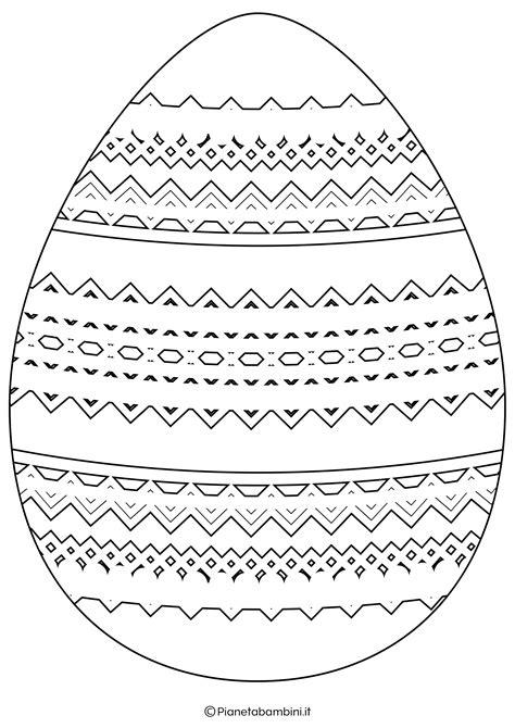 Uovo di Pasqua da colorare e ritagliare TuttoDisegni