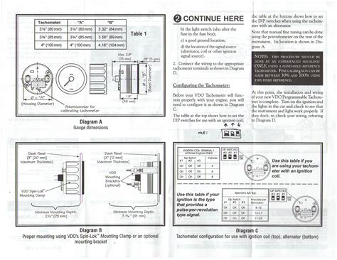 vdo wiring diagram for tachometer images wire tachometer wiring vdo tachometer installation manual pdf