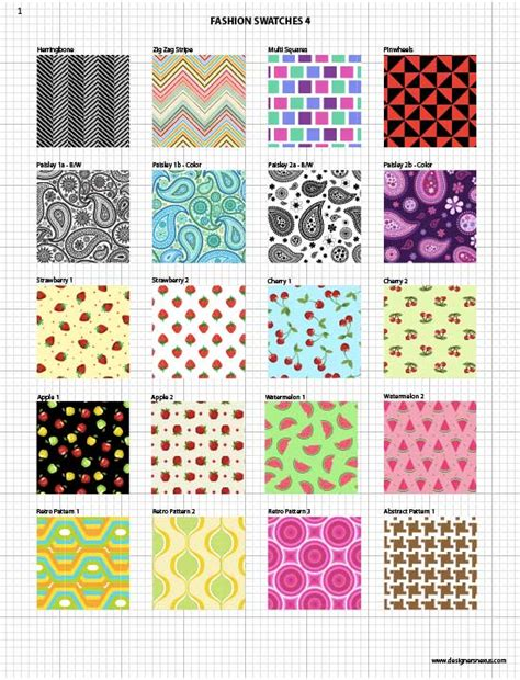 Vector Fabric Swatches Fashion Embellishments My