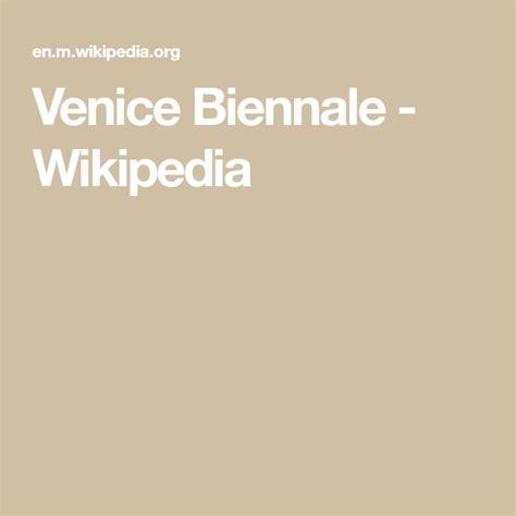 Venice Biennale Wikipedia
