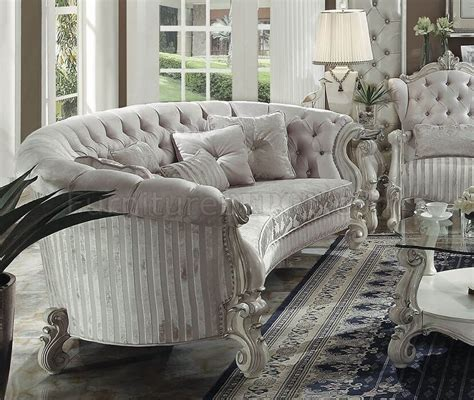 Versaille 52085 Sofa in Ivory Fabric by Acme w Optional Items