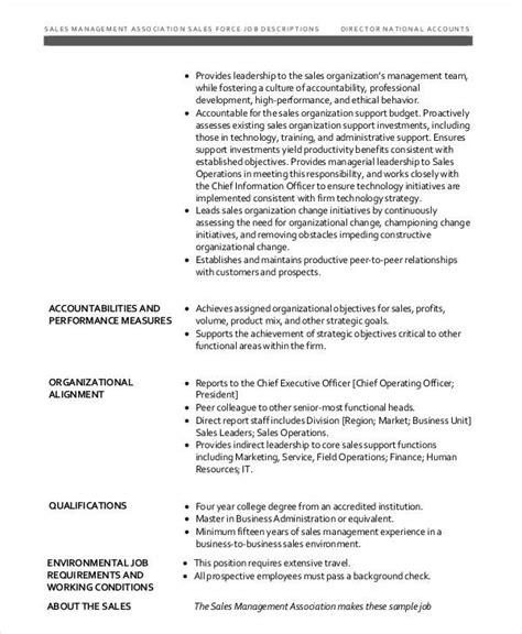Vice President Sales Operations Job Description