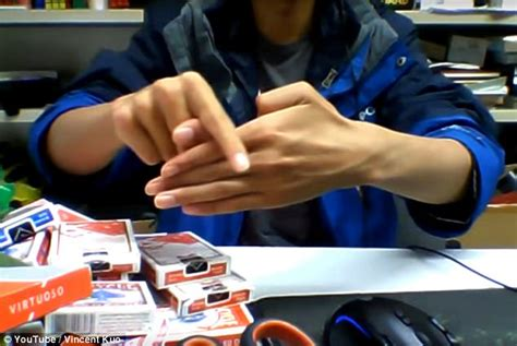 Video shows man taking thumb trick to a whole new level