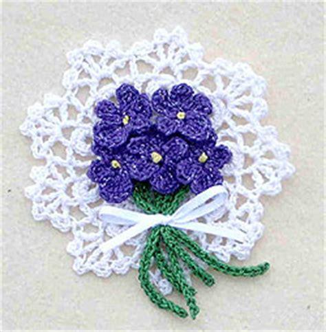 Violets Pin Crochet Flower Pattern FaveCrafts