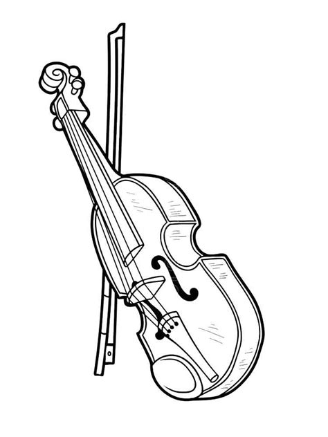 Violin Coloring Page Musical Instruments BigActivities