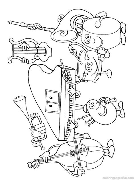 Violin Coloring Pages for Kids to Color and Print