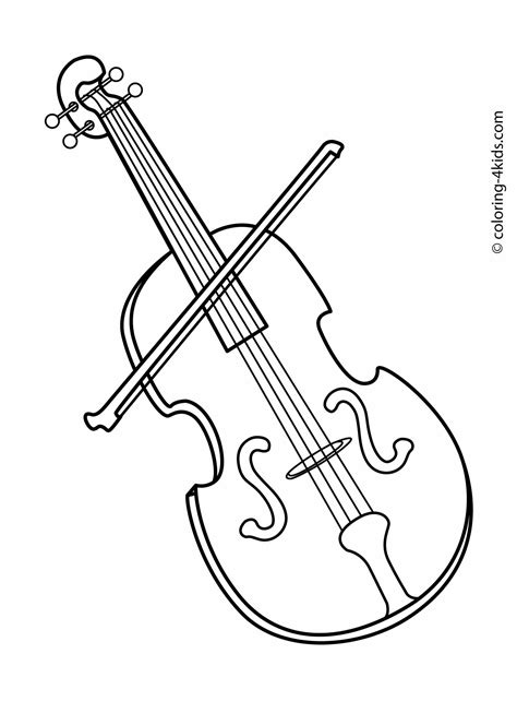 Violin coloring page Free Printable Coloring Pages