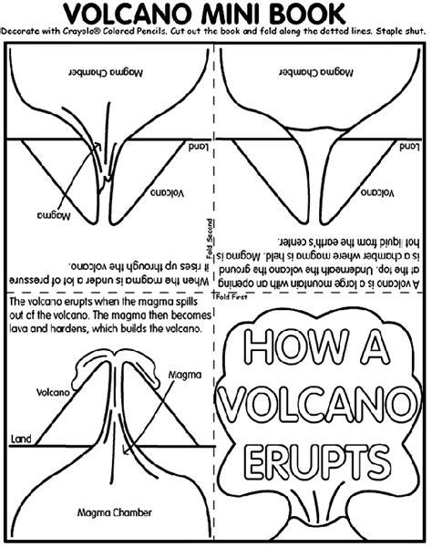 Volcano Mini Book Coloring Page crayola