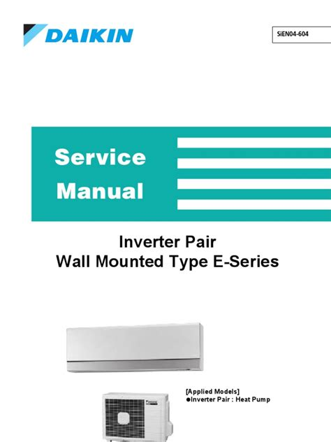 WALL MOUNTED AIR CONDITIONER SERVICE MANUAL 11M INVERTER