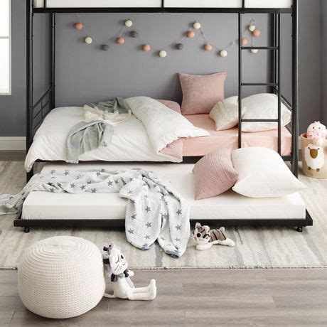 WE Furniture Twin Size Roll Out Trundle Bed Walmart ca