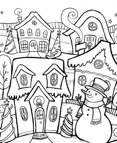 WINTER COLORING Pages Free Download Printable