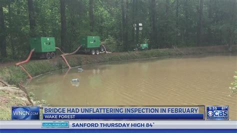 Wake Forest dam stabilized no evacuations necessary
