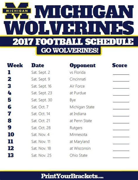 Washington Huskies 2017 Football Schedule Printable