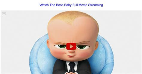 Watch The Boss Baby 2017 Full Movie Online Stream