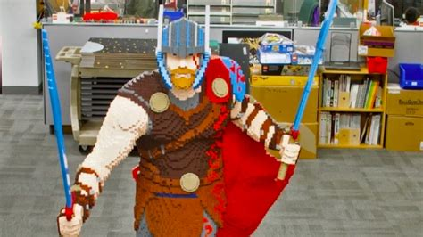 Watching Lego Master Builders Make This Life Sized Thor