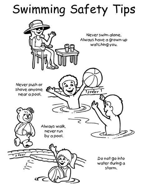 Water Safety Colouring In Posters