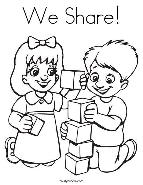 We Share Coloring Page Twisty Noodle